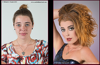 Model Photography: Before and After Shot of Model